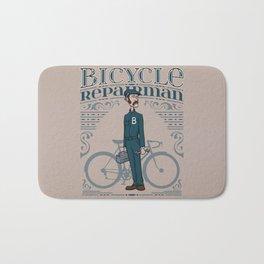 Bicycle Repairman Bath Mat