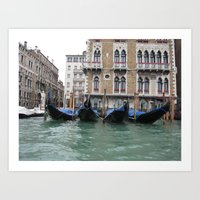 On a Boat Art Print