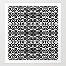 Black and White Tile 6/9/2013 Art Print