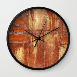 Rusty metal wall surface Wall Clock