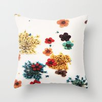 martell Throw Pillows featuring Little Flowers by G Martell