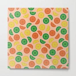 Fruity Slices Metal Print