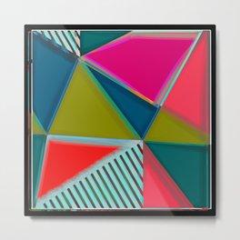 Art Deco | Modern Art | Vibrant Colors | Pastels | Art Metal Print