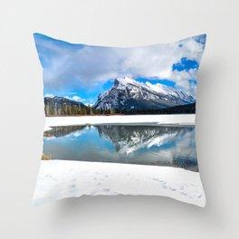 Banff-Canada-Rockie mountains Throw Pillow
