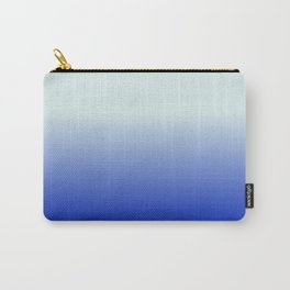 BRIGHT BLUE pastel color ombre pattern  Carry-All Pouch