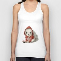 poker Tank Tops featuring Poker face by Marcapasso