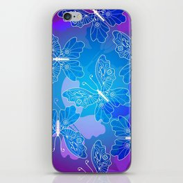Colorful Butterflies and Flowers 20 iPhone Skin