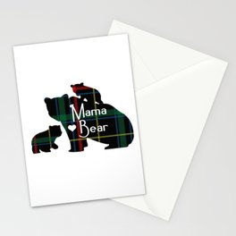 Mama bear Two cubs Stationery Cards