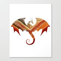 smaug Canvas Prints featuring Smaug by Emmy Winstead