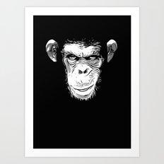 Evil Monkey Art Print