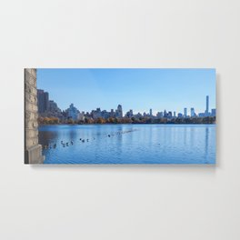 Central Park Resovoir Metal Print