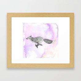 Running Fox Framed Art Print