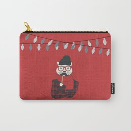 Festive Hipster Cat Carry-All Pouch