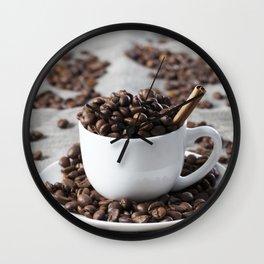 brown coffee beans Wall Clock