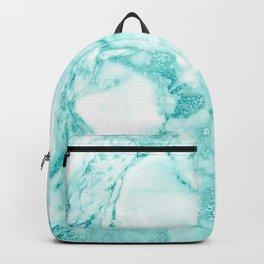 Teal Mermaid Glitter Marble Backpack
