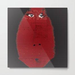 « une grosse madame rouge » Metal Print