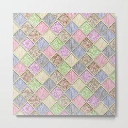 Colorful Seamless Rectangular Geometric Pattern IV Metal Print