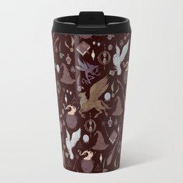 Hogwarts pattern dark Travel Mug
