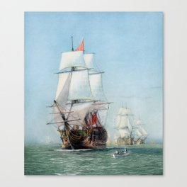 First Journey Of The HMS Victory Canvas Print