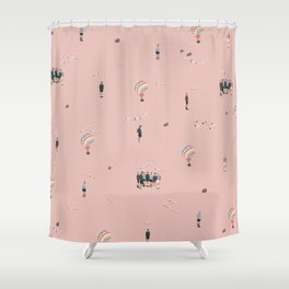 BTS Young Forever Pattern - Pink Shower Curtain