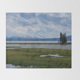 Pelican Creek - Yellowstone Lake Throw Blanket