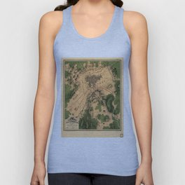 Vintage Map of The Gettysburg Battlefield (1863) 3 Unisex Tank Top