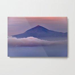 Volcano Teide 3.718 Meters. At Sunset Metal Print