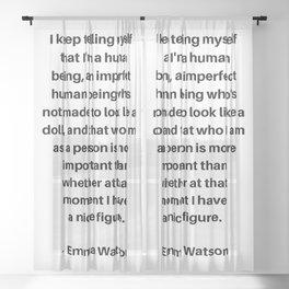 Emma Watson Feminist Quote Sheer Curtain