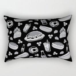 Skyline Chili Pattern Night Rectangular Pillow