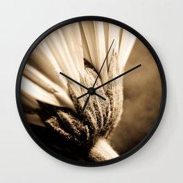 Sepia Gerbera Wall Clock