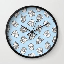 Star Icons Wall Clock