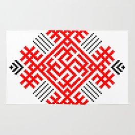Rodimich - Antlers - Slavic Symbol #1 Rug