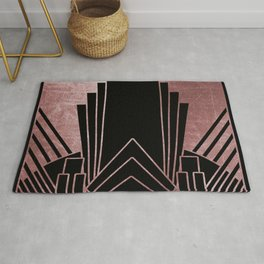 Art deco design - deep rose Rug