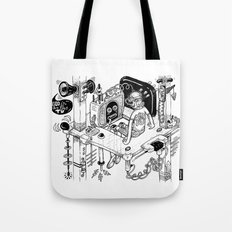 God is on the TV Tote Bag