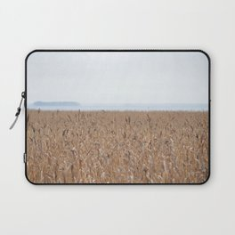 Reeds On A Foggy Autumn's Day Laptop Sleeve