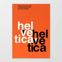 helvetica Canvas Prints featuring Helvetica by Axellvak
