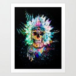SKULL WILD S. Art Print