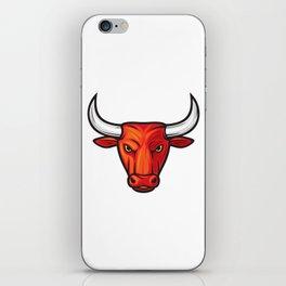 bull head design iPhone Skin