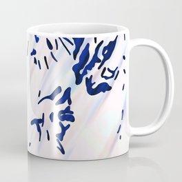 Blue Splatter Painting Pattern Coffee Mug