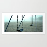 Swinging in the Mist 15x6 High Quality Photographic Print  Art Print