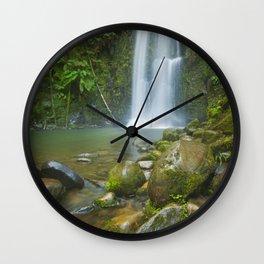 III - Rainforest waterfalls, Beauchamp Falls, Great Otway NP, Victoria, Australia Wall Clock