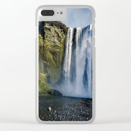 Waterfall in Iceland I Clear iPhone Case