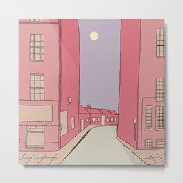 Pink Streets Metal Print