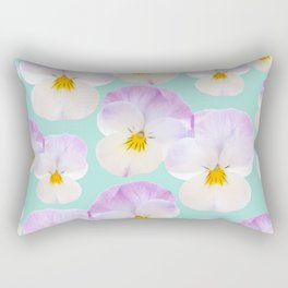 Pansies Dream #1 #floral #pattern #decor #art #society6 Rectangular Pillow