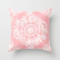 Marshmallow Lace Throw Pillow