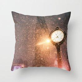 New York City Snow Throw Pillow