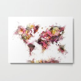 World Map 2033 Metal Print
