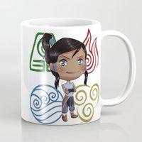 korra Mugs featuring Avatar Korra by sambeawesome