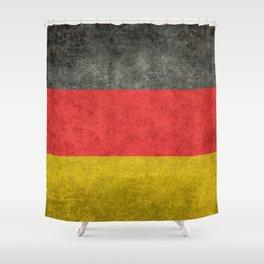 German National flag, Vintage retro patina Shower Curtain