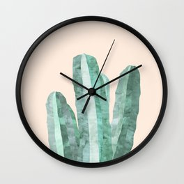 Painting of Cacti IV Wall Clock